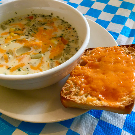 From The North Grove's Kitchen: Bacon Corn Chowder with Red Lentils