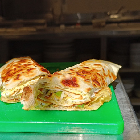 From The North Grove's Kitchen: Crispy Mushroom Egg Roll with Salad