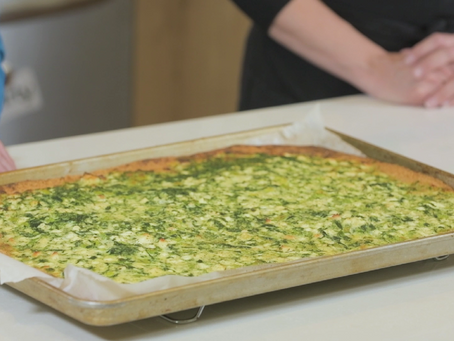 Food & Families: Spinach and Feta Sheet Pan Quiche