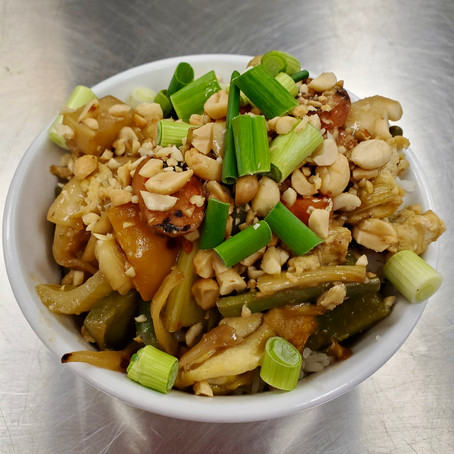 From The North Grove's Kitchen: Veggie Stir-Fry with Egg and Peanuts