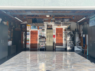 A Finished Expoxy Garage Floor