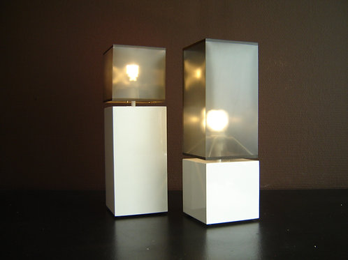 Lampes G'LUL blanc/fumé