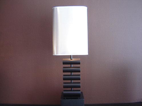 Lampe TOT'M noir/acier brossé