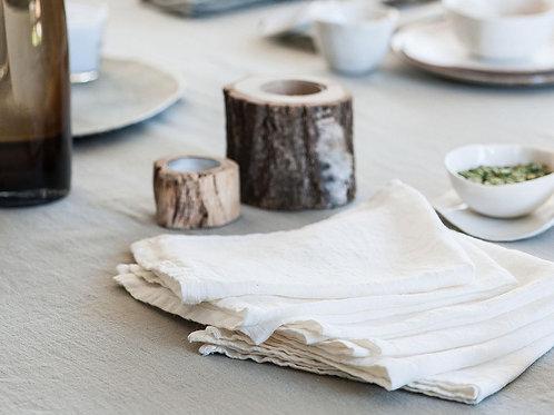 Serviettes de table Blanc de Chaux
