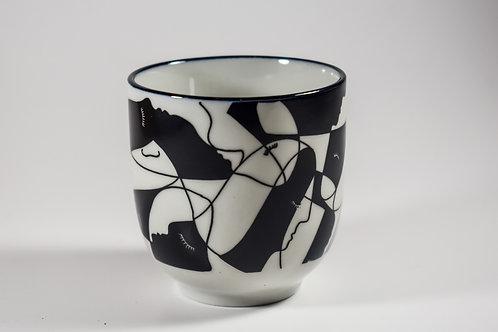 Black & White Pattern Teacups Set - 5oz & 8oz