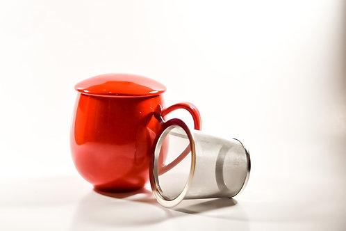 Red Mug w/ Top & Infuser