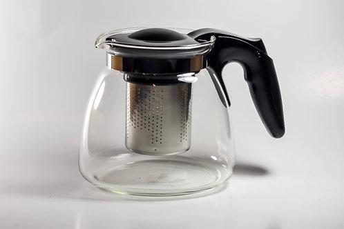 Glass Mini Teapot w/ Steel Strainer