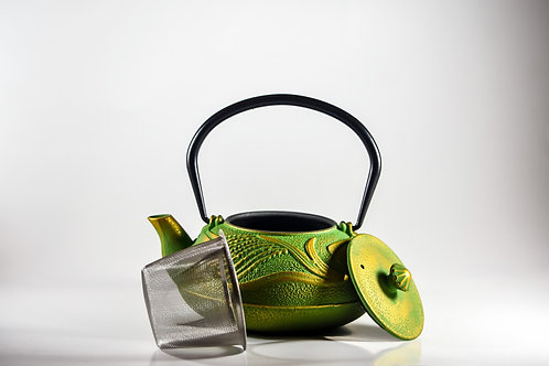 Chartreuse Japanese Style Cast Iron Teapot