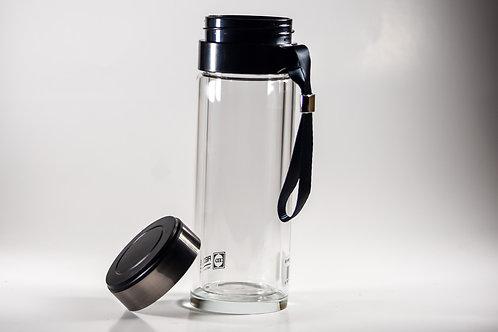 Glass Hot Beverage Togo Cup w/ Strainer