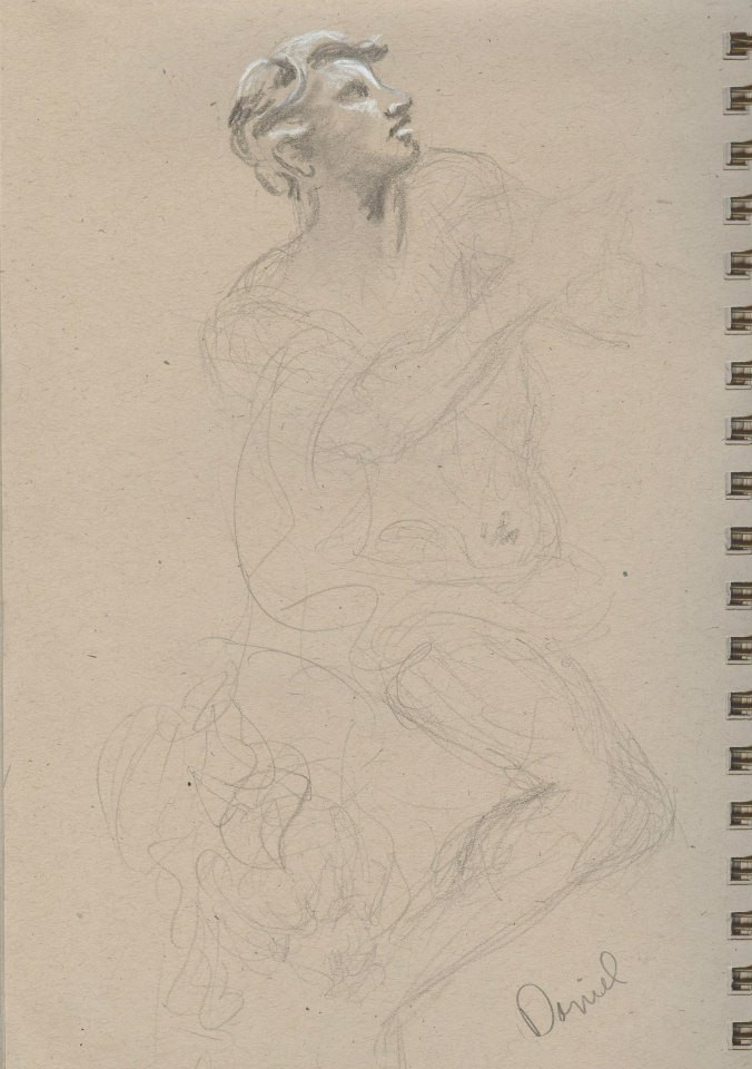 Sketches of Benini sculptures Kimbell  Art Museum Tracy H Sugg (6).jpg