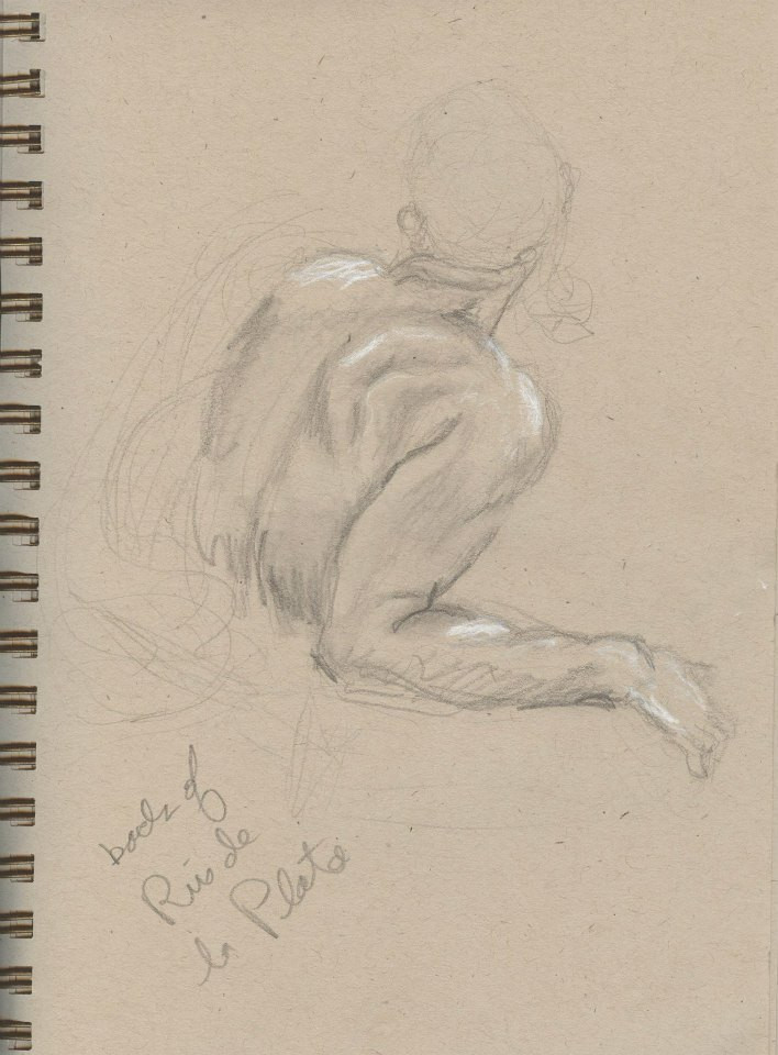 Sketches of Benini sculptures Kimbell  Art Museum Tracy H Sugg (7).jpg