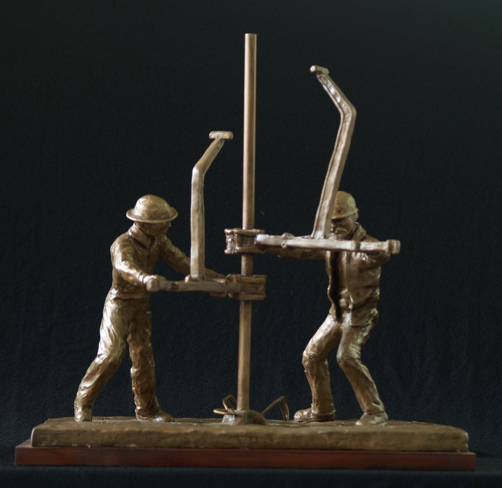 strength of the oil field Tracy H Sugg sculptor.jpg
