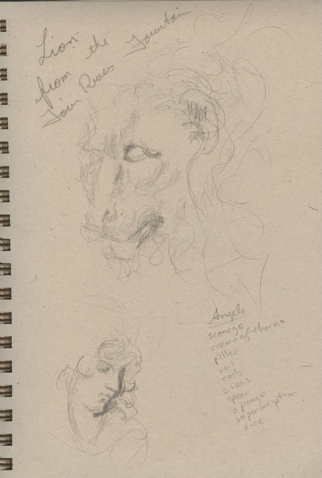 Sketches of Benini sculptures Kimbell  Art Museum Tracy H Sugg (2).jpg