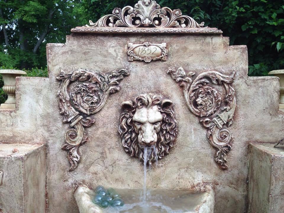 Arcanum Lion fountain facade view