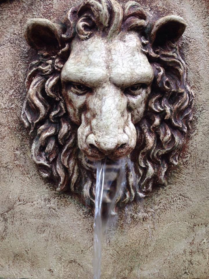 Detail of Lion Masque on the Arcanum Fountain