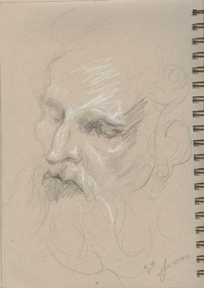 Sketches of Benini sculptures Kimbell  Art Museum Tracy H Sugg (4).jpg