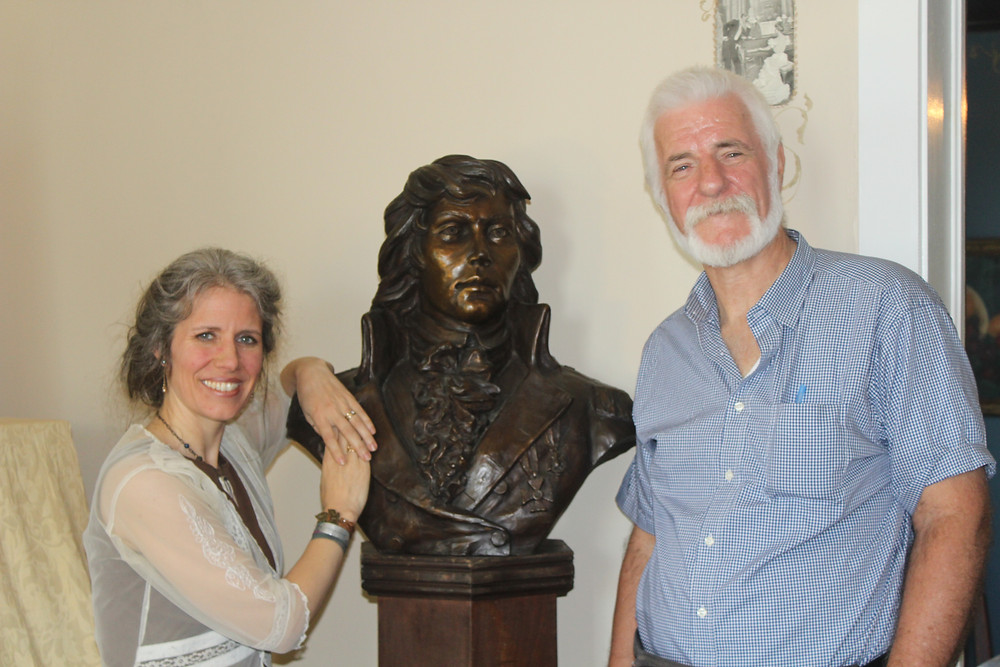 Felix Molski from Australia with my portrait bust of Kosciuszko