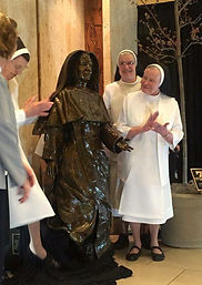 Dominican Sister bronze life-size by Tra