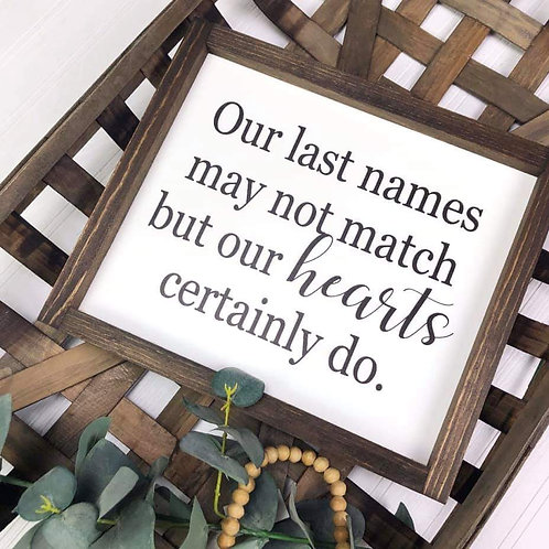 Our Last Names Sign