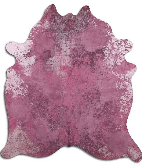Pink Cowhie Rug
