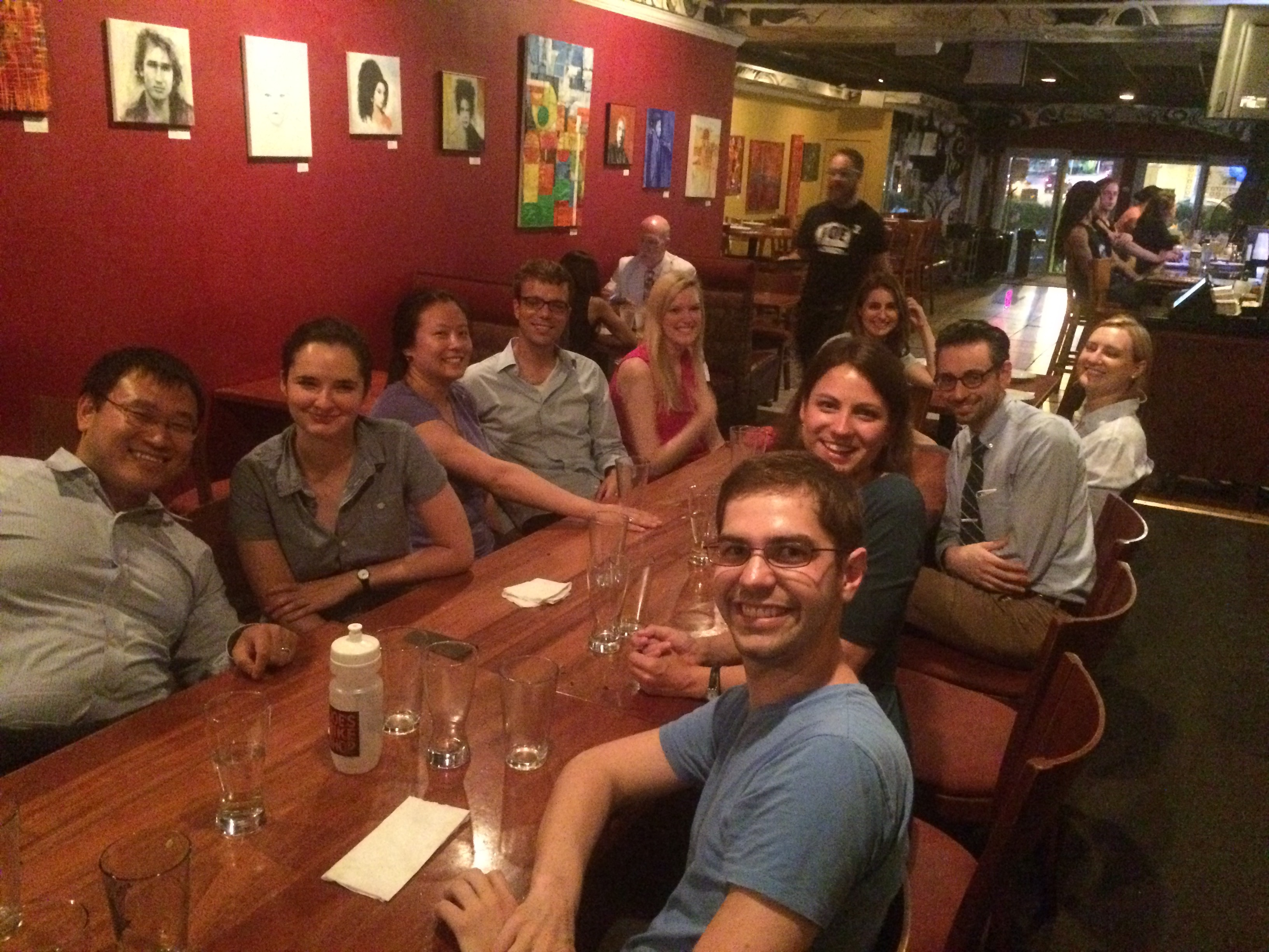 Intern Welcome Dinner, 2015