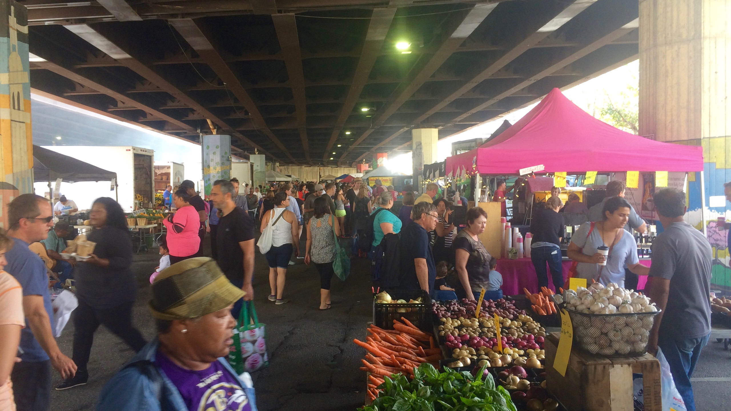 Folks come from all over Baltimore to this market