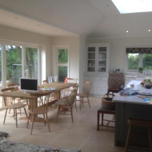 Kitchen Extension in Jasmine White