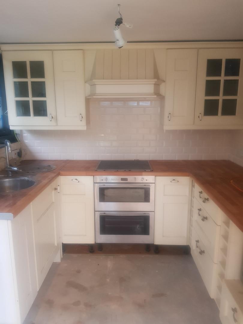 Kitchen: Before Re-spray
