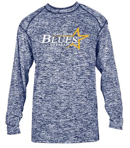 MQT Blues Long Sleeve Wicking Shirt