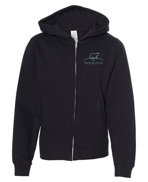 Independent Trading Co. - Youth Midweight Full-Zip Hooded Sweatshirt