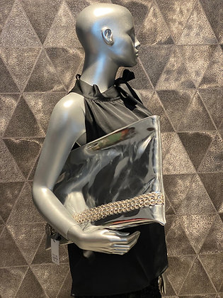 DalaLeo Pochette large eco silver