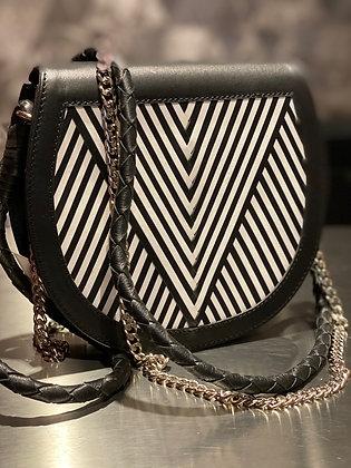 Lili Radu Saddle Bag V black white