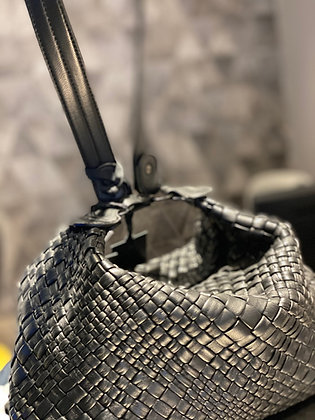 Falorni Lederschultertasche schwarz klein