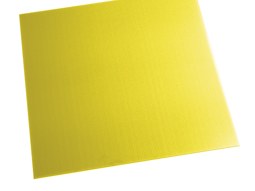 YELLOW ALVEOLAR POLYPROPYLENE SHEET PAG500X500