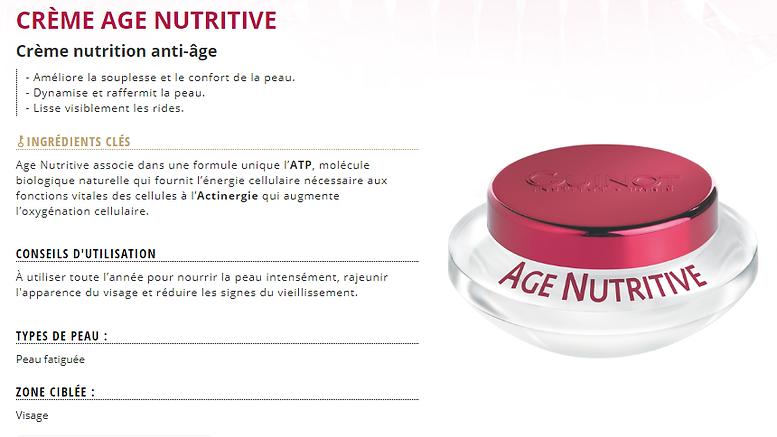 Crème Age Nutitive