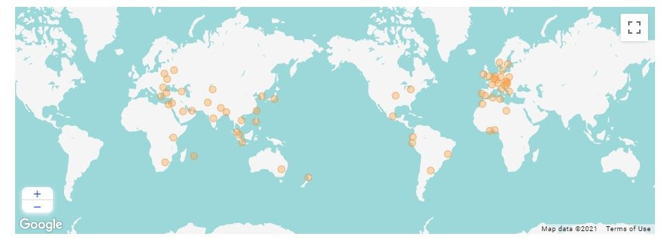 #datalift registrations are from all over the world