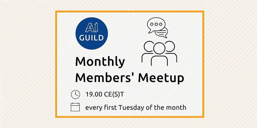 AI Guild Monthly Members' Meetup: May 2021