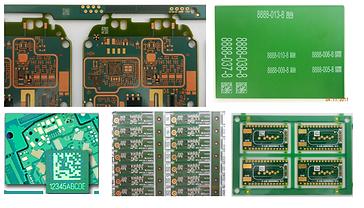 Gravação Laser em PCB, código 1D, 2D