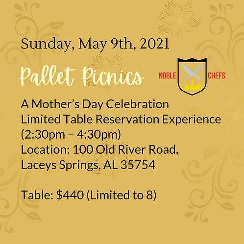 """""""Mixing It Up"""" Pallet Picnics - Table Ticket"""