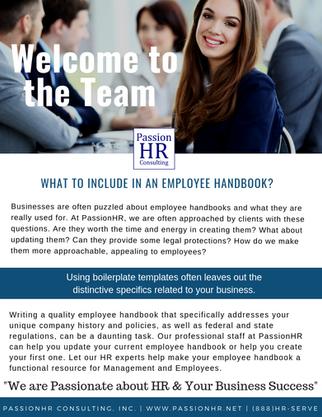 PassionHR Employee Handbook - new 2019 (