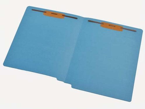 File Folders 1590 Blue w/ fast. in 1 & 3 (box of 50)
