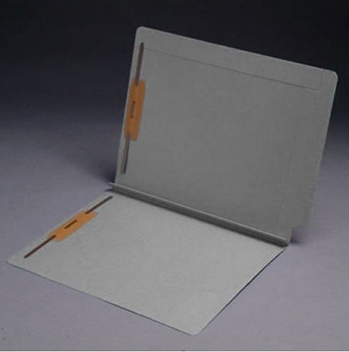 File Folders 1590 Gray w/fast. in pos 1 & 3 (box of 50)