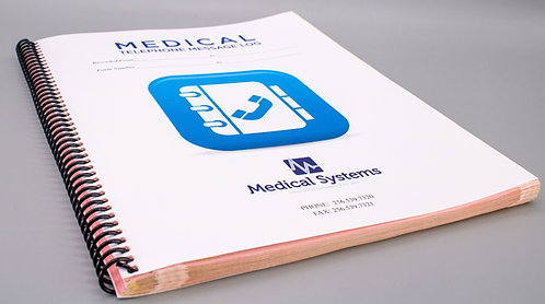 Medical Telephone Message Book
