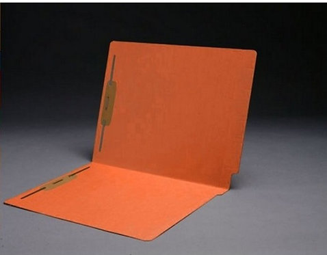File Folders 1590 Orange w/fast. in pos 1 & 3 (box of 50)