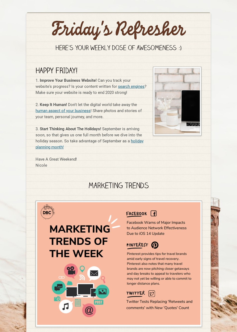 Friday Refresher - Improve Your Business Website
