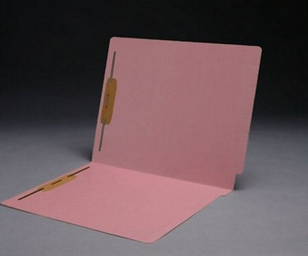 File Folders 1590 Pink w/fast. in pos 1 & 3  (box of 50)