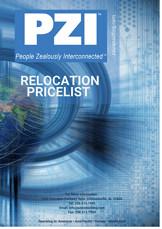 Relocation Price List - PZI International