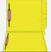 File Folders 1590 Yellow w/ fast. in pos.1 & 3 (box of 50)