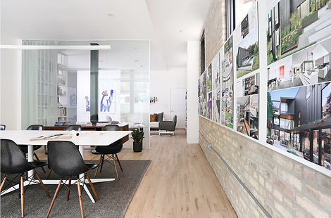 small Chicago architecture firm design contemporary office space