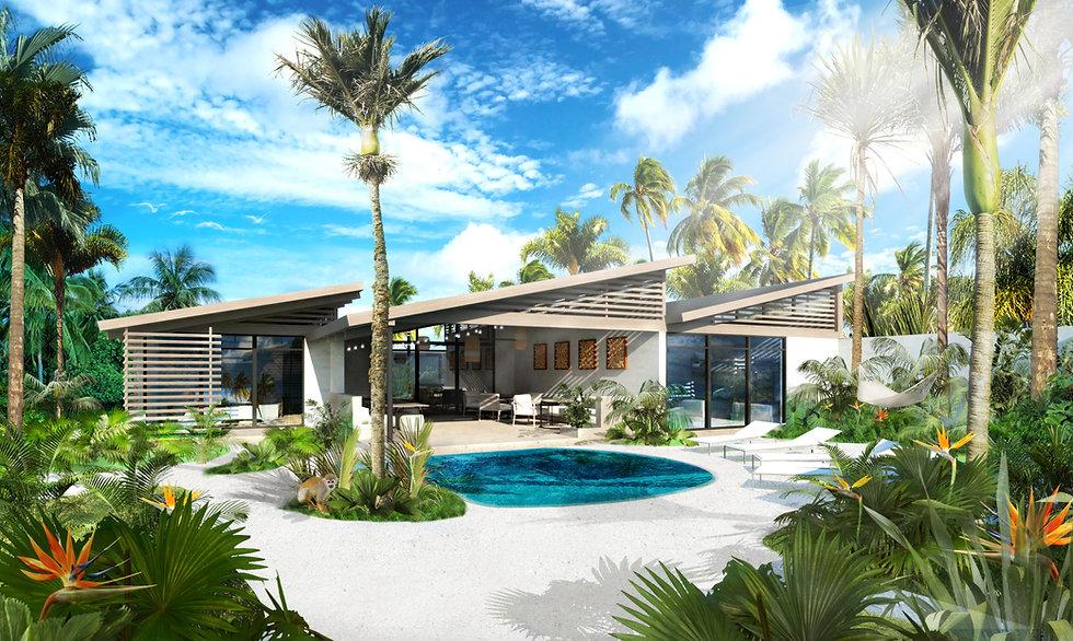 Custom Tropical Vacation Home Design